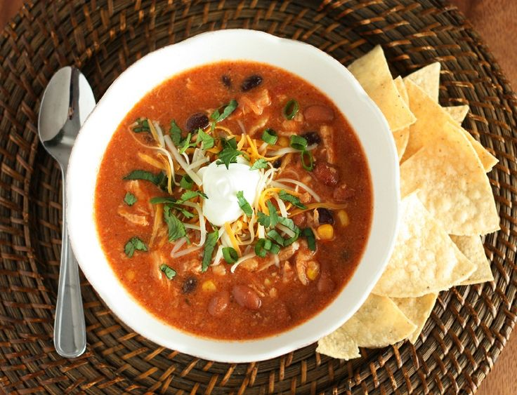 Slow Cooker Chicken Enchilada Soup - Cooking Classy- I wish this ...