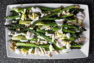 Asparagus with Almonds and Yogurt Dressing — Recipe from Smitten ...