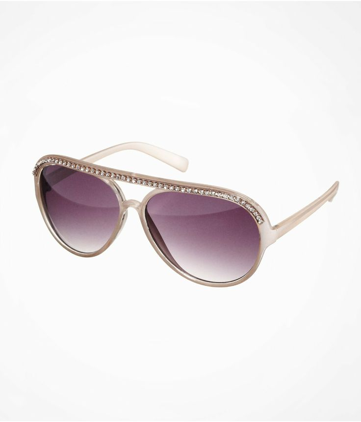 Rhinestone Aviator Sunglasses Cute Accessories Pinterest