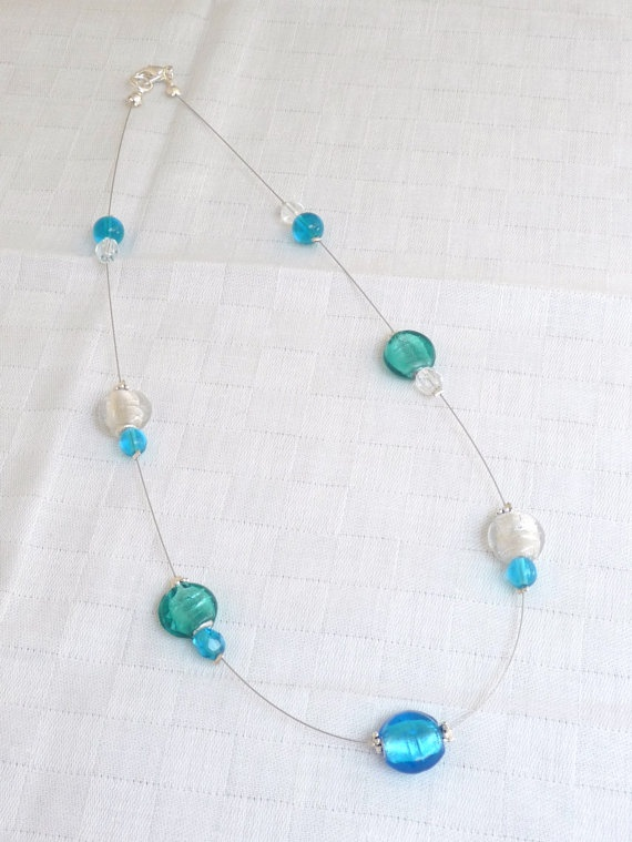 turquoise glass bead necklace craft ideas