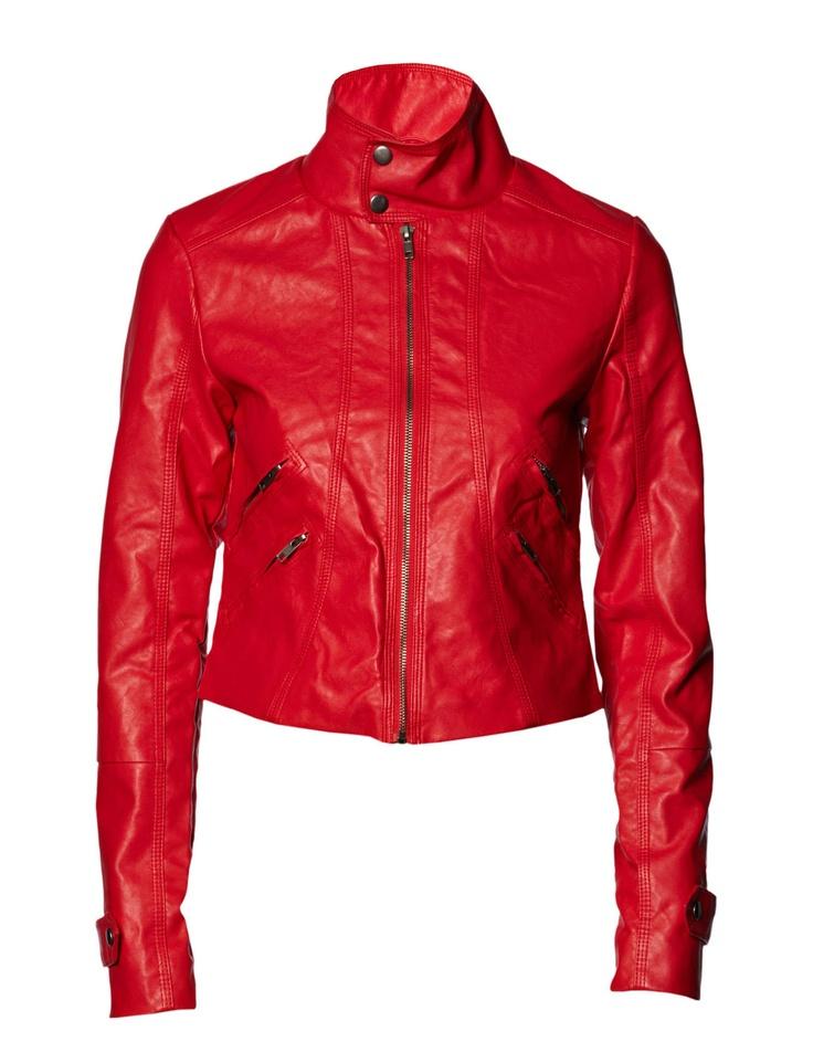 Vila - Leather jacket - Boozt.com