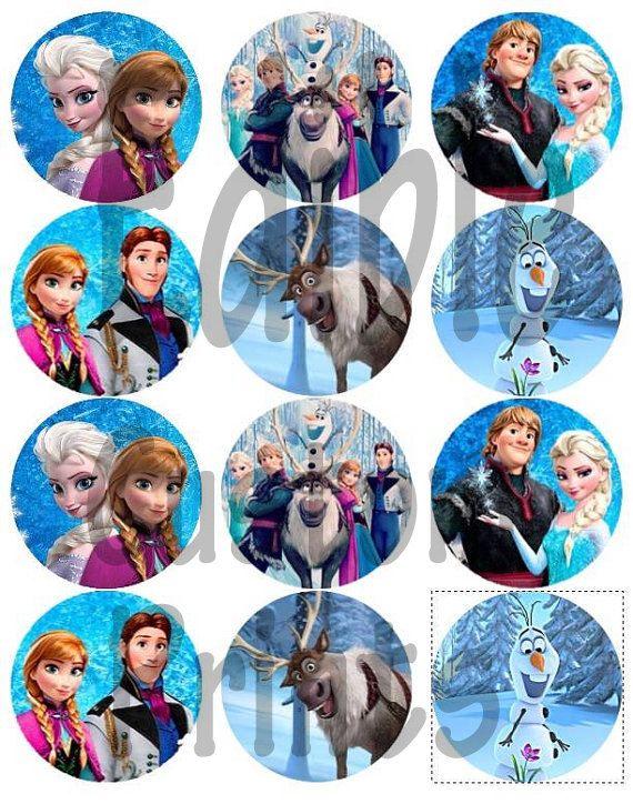 Disney Frozen Edible Cupcake Cookie Toppers edible prints