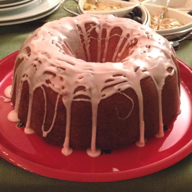 Orange Pound Cake with Cranberry Glaze | Sweets | Pinterest