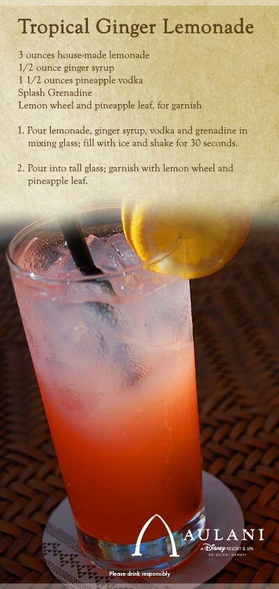 tropical ginger lemonade | Drinks are on me... | Pinterest