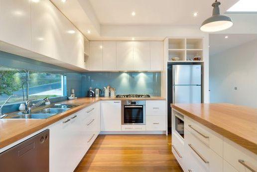 Narrow kitchen window and spot lights kitchen ideas pinterest - Contemporary narrow kitchen ...