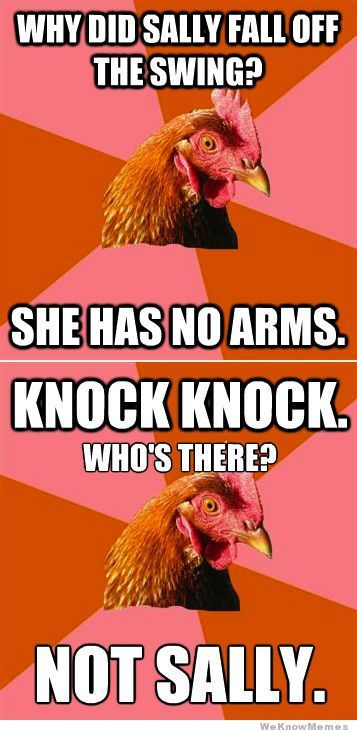This is my favorite Anti-Joke Chicken joke by far. - Imgur