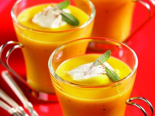 Butternut Squash Soup With Nutmeg Cream - holiday appetizer or starter ...
