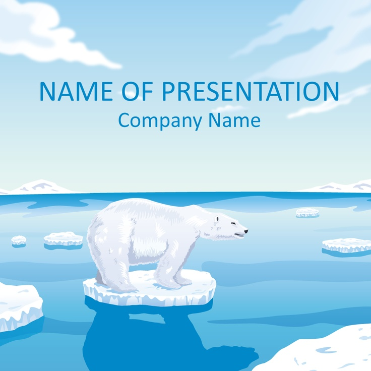 Polar Bear PowerPoint Template | Nature PowerPoint Templates | Pinter ...
