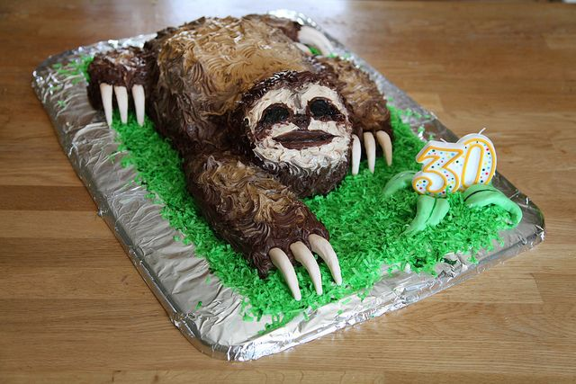 @Christy Kurtz made this for me  and I love her / Sloth Cake