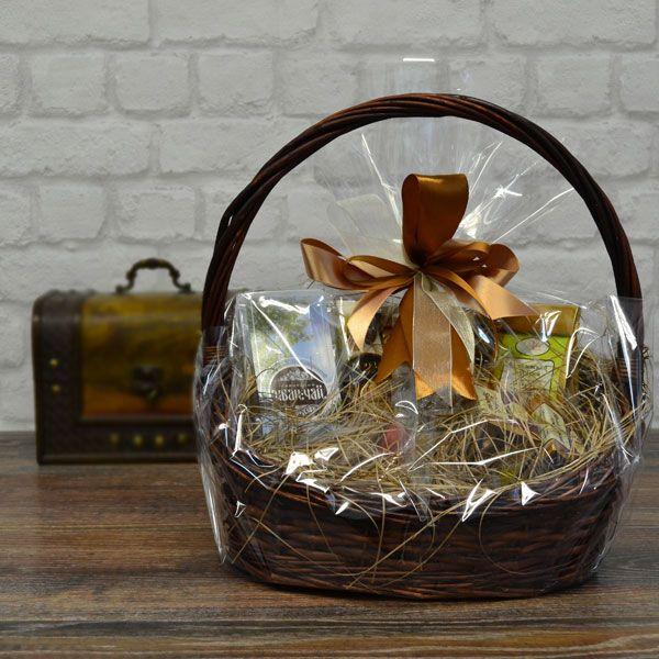 Подарки в корзинках с чаем 29