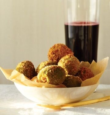 Cheese Stuffed Fried-Olives http://www.recipesquickneasy.com/fried ...
