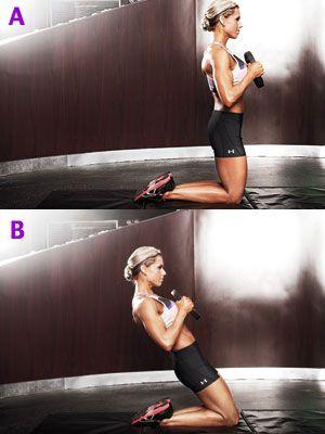 rockin' leg routine... weighted genie press (works your quads)