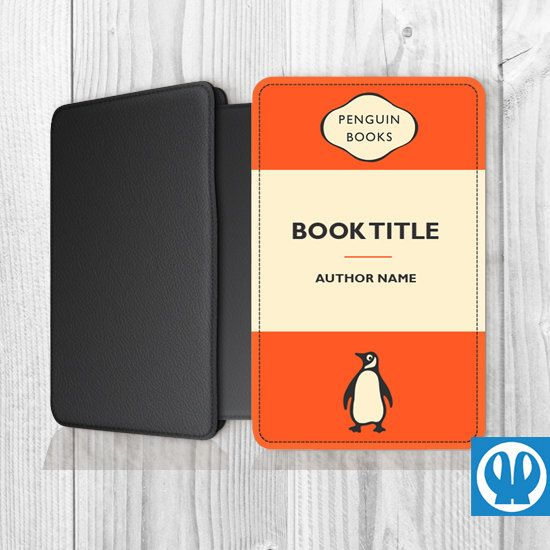 Classic Book Cover For Kindle ~ Personalized penguin books kindle case orange