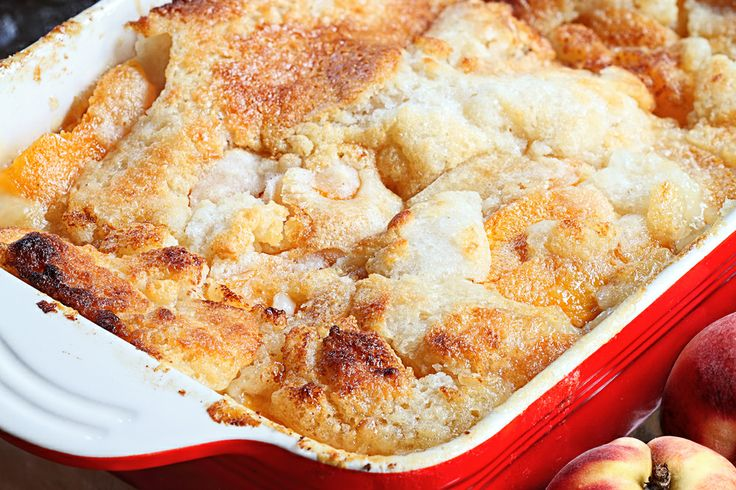Old Fashioned Peach Cobbler | Sweets | Pinterest