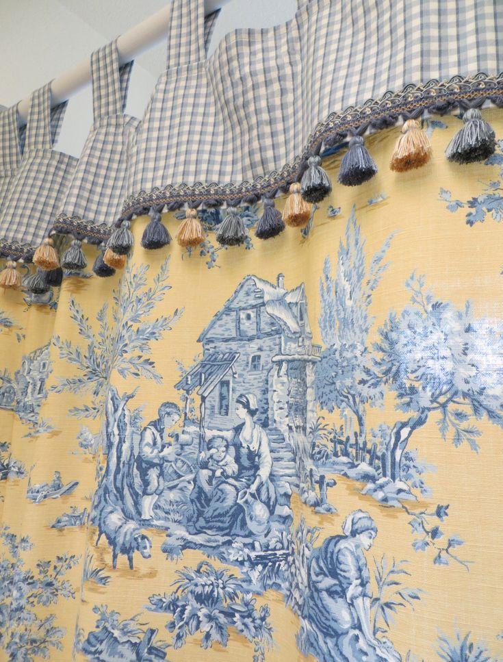 Custom made french toile shower curtain curtain ideas pinterest