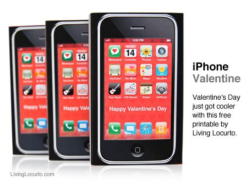 valentine card iphone