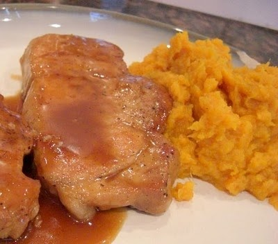 Cider Glazed Pork Chops and Maple Orange Sweet Potatoes.. nice fall ...