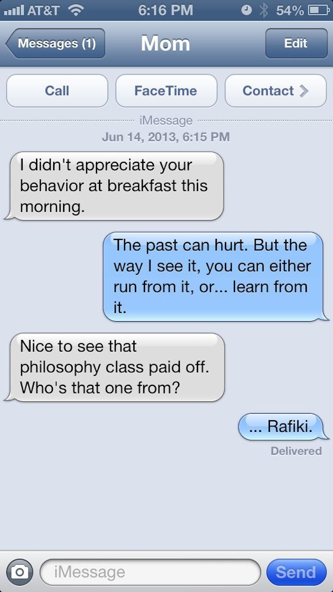 Just listen to Rafiki