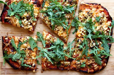 No-Knead Whole Wheat Pizza with Corn, Hatch Chile & Bacon ...