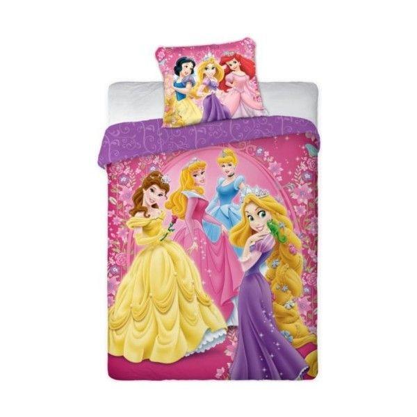 les petites filles seront ravies de retrouver leurs princesses favorites sur cette parure de lit. Black Bedroom Furniture Sets. Home Design Ideas