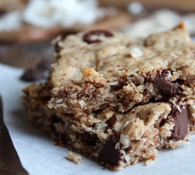 gluten-free chocolate chip coconut bars | Food and Recipes | Pinterest
