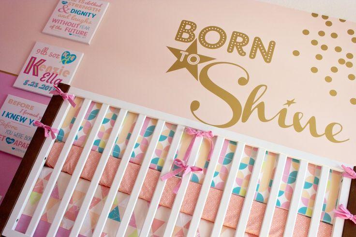 Pink + Gold Baby Girl Nursery - This just screams girly! #nursery