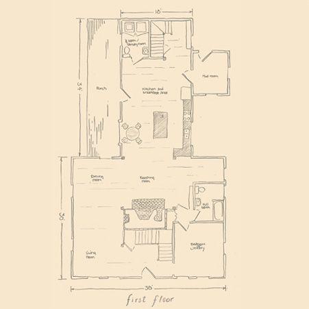 Pin by jodi van ingen on new england style pinterest for Center chimney house plans