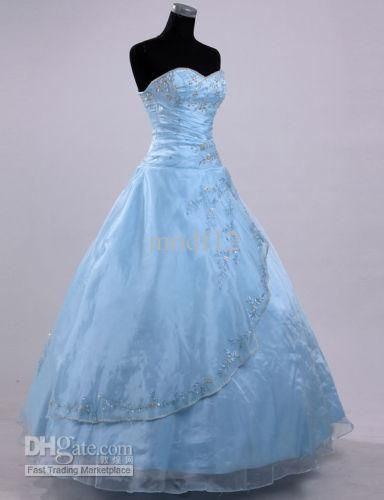 Pale blue wedding gown wedding gowns colorful pinterest for Pale blue dress for wedding