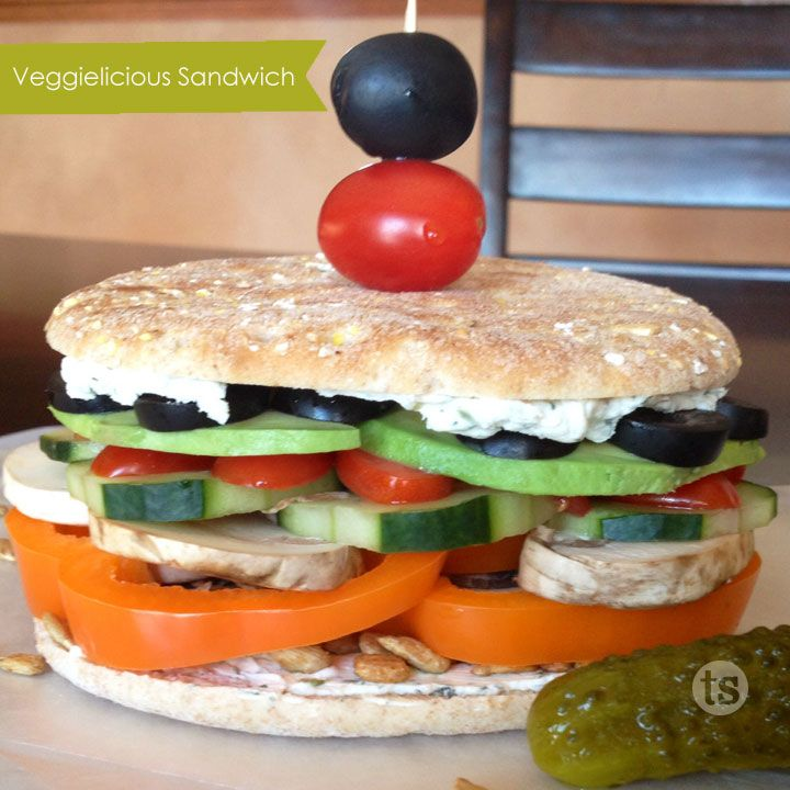 Sandwich - Healthy summer-time sandwich loaded with fresh vegetables ...