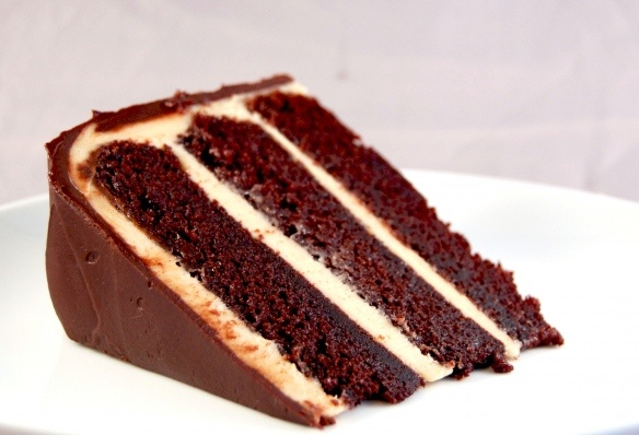 Chocolate Cake with Peanut Butter Frosting...Heaven  Umm yummm!