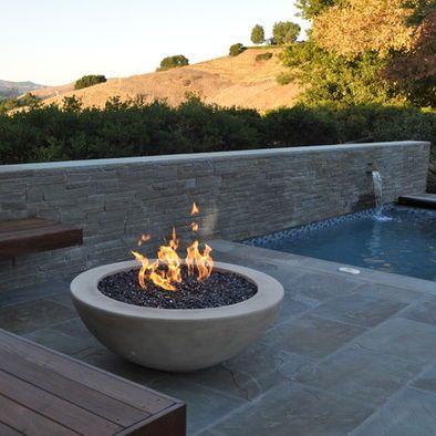Spaces concrete fire pit design for the home pinterest for Concrete fire pit plans