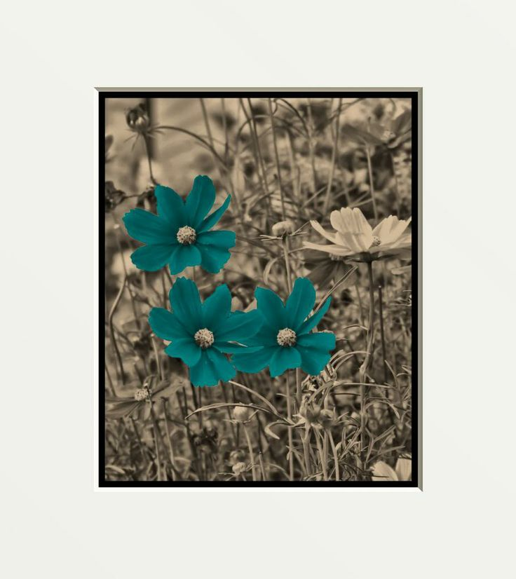 Blue and brown framed art art brown art red blue teal for Blue and brown wall art