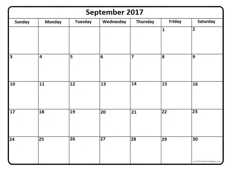 September 2017 Calendar Large Print – September printable calendars