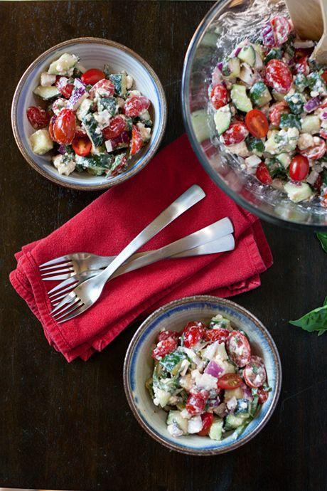 Cucumber Tomato Feta Salad/Cucumber Tomato Feta Salad - cherry ...