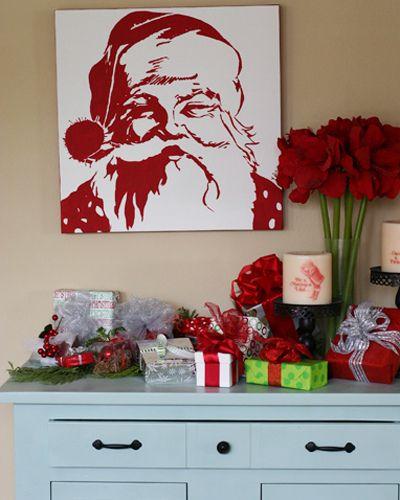 Santa pop art