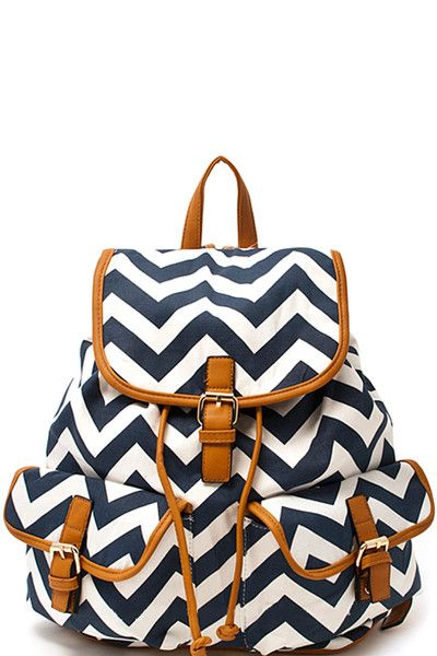 chevron backpack purse