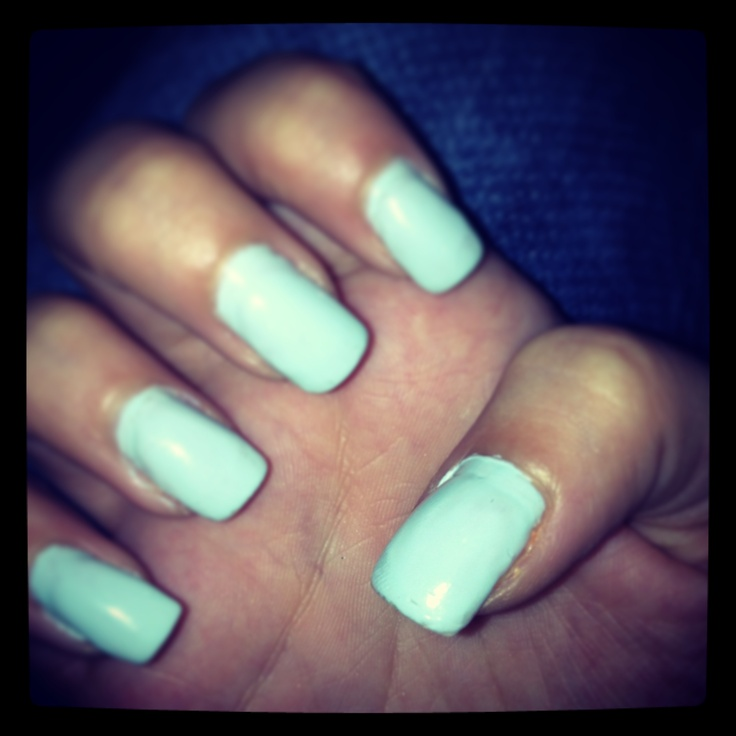 Light blue nails for prom xtra