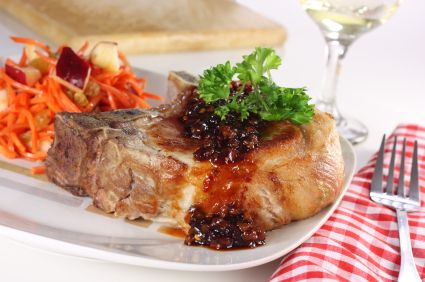 Anti-Cancer Pork Chops With Cherry Sauce   Food - Healthier (but hope ...