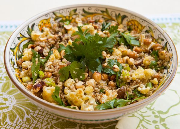 ... Salad With Roasted Cauliflower, Mushrooms & Garbanzo Beans | Re