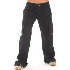 Amazing SALE Handmade Womens Black Cargo Casual Pants 32quot  M  Pants