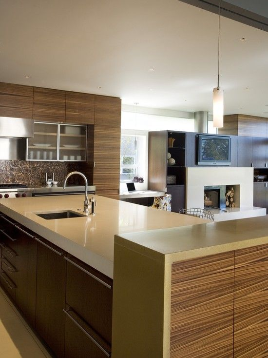 Exotic wood cabinets in the kitchen art design pinterest for Kitchen design 43055