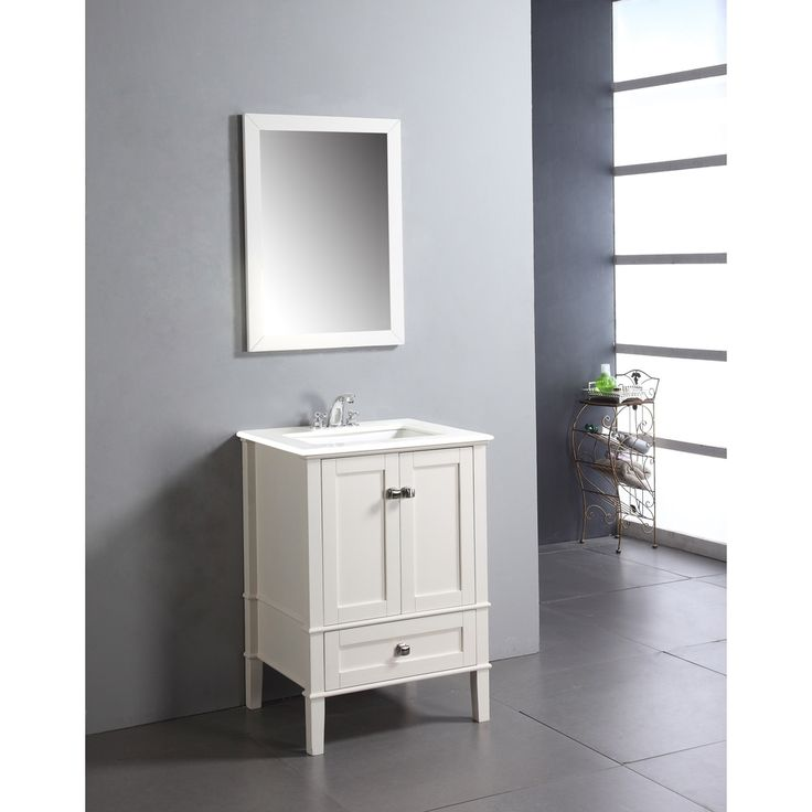 Windham Soft White 24 Inch Bath Vanity With 2 Doors