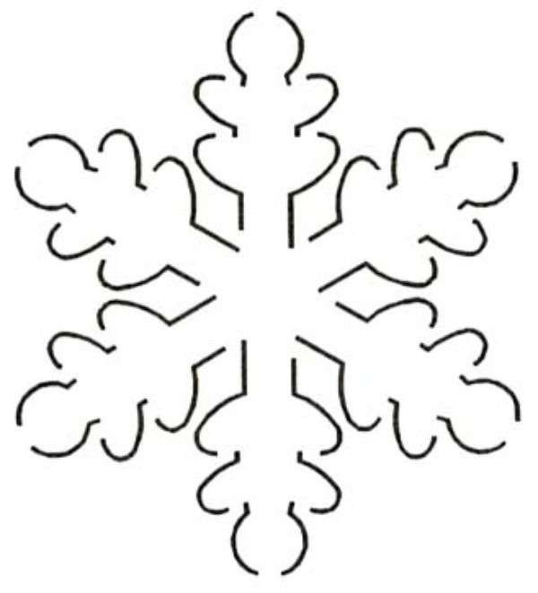 Free Snowflake Quilting Stencil : 5in Snowflake Stencil templates Pinterest
