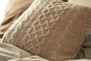 Sweater pillows made from your old sweaters.  Definitely have to do this.