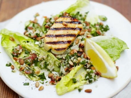 Jamie Oliver's Grilled Halloumi and Tabbouleh Salad