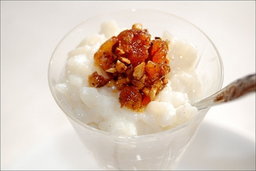 ... Rice Pudding With Amaretto-Apricot Toasted Almond Topping #Recipes