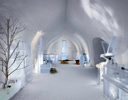 Ice Hotel Lobby Finland Travel Honeymoon Destinations