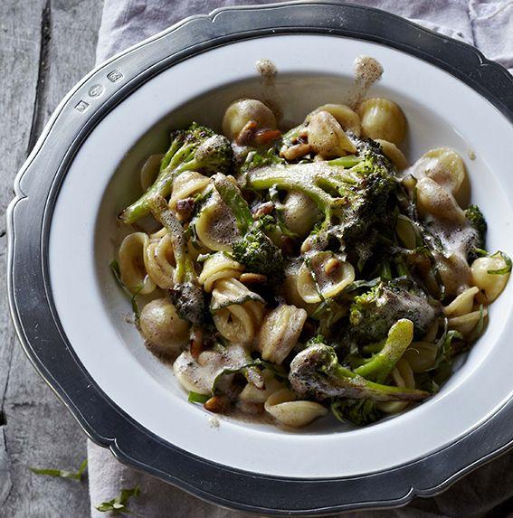 Orecchiette with Brown Butter, Broccoli, Pine Nuts & Basil #recipe