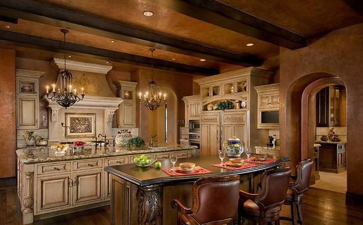Old world tuscan kitchen double island kitchens pinterest House beautiful com kitchens