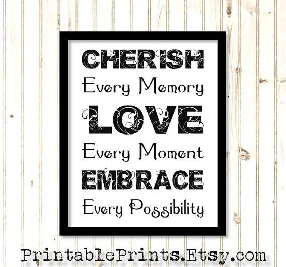 cherish every moment digital download 8x10 inspirational